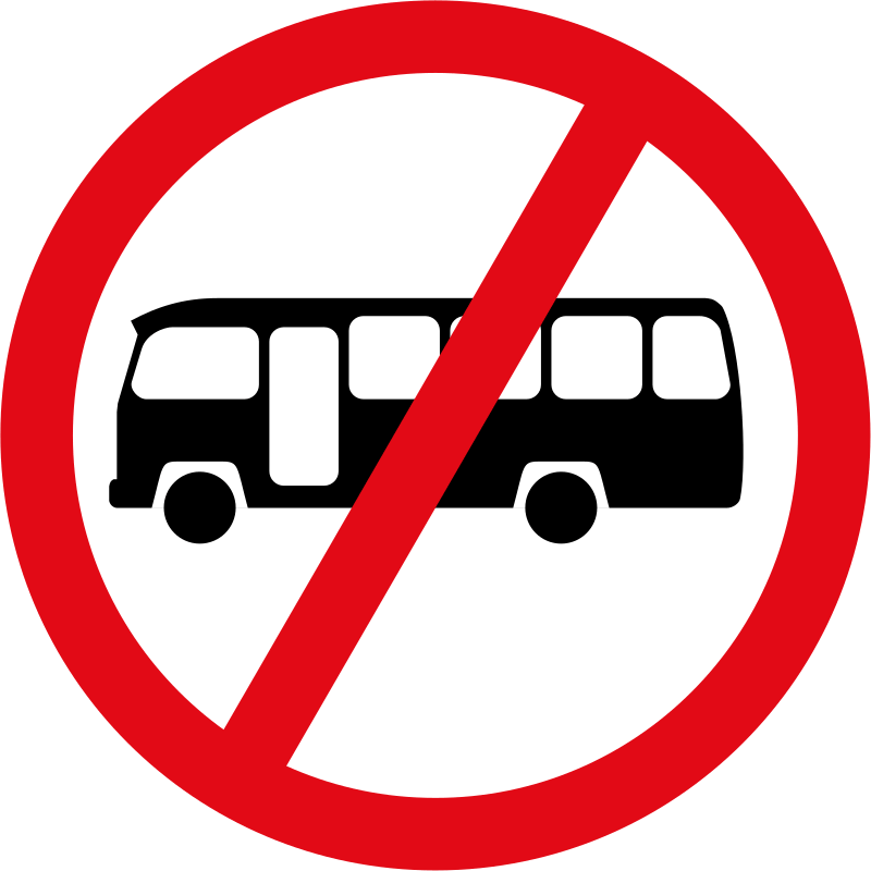 Midi-buses prohibited