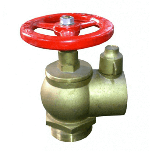 Fire Hydrant Valve - Right Angle - Brass