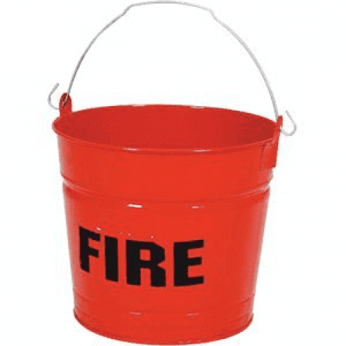 Fire Bucket - Flat Bottom - Steel